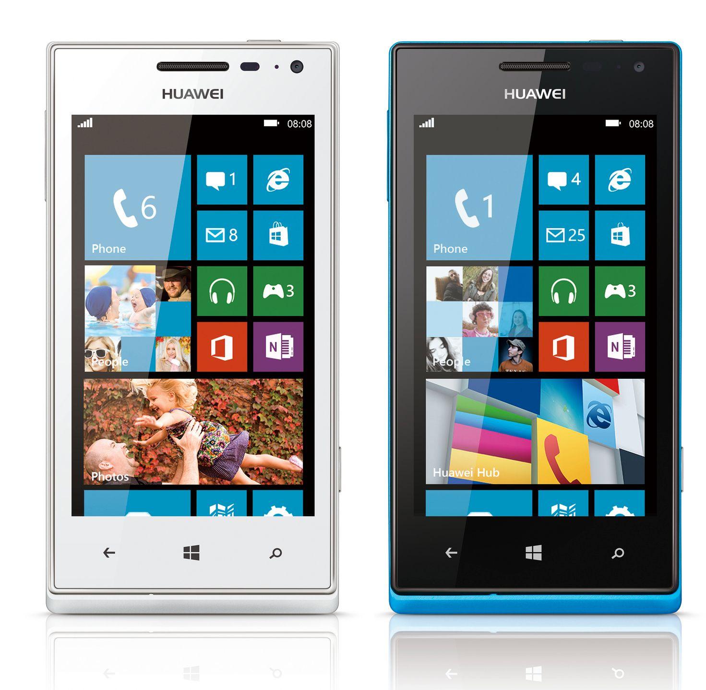 Huawei Ascend W1 fås i både hvitt og blått.Foto: Huawei