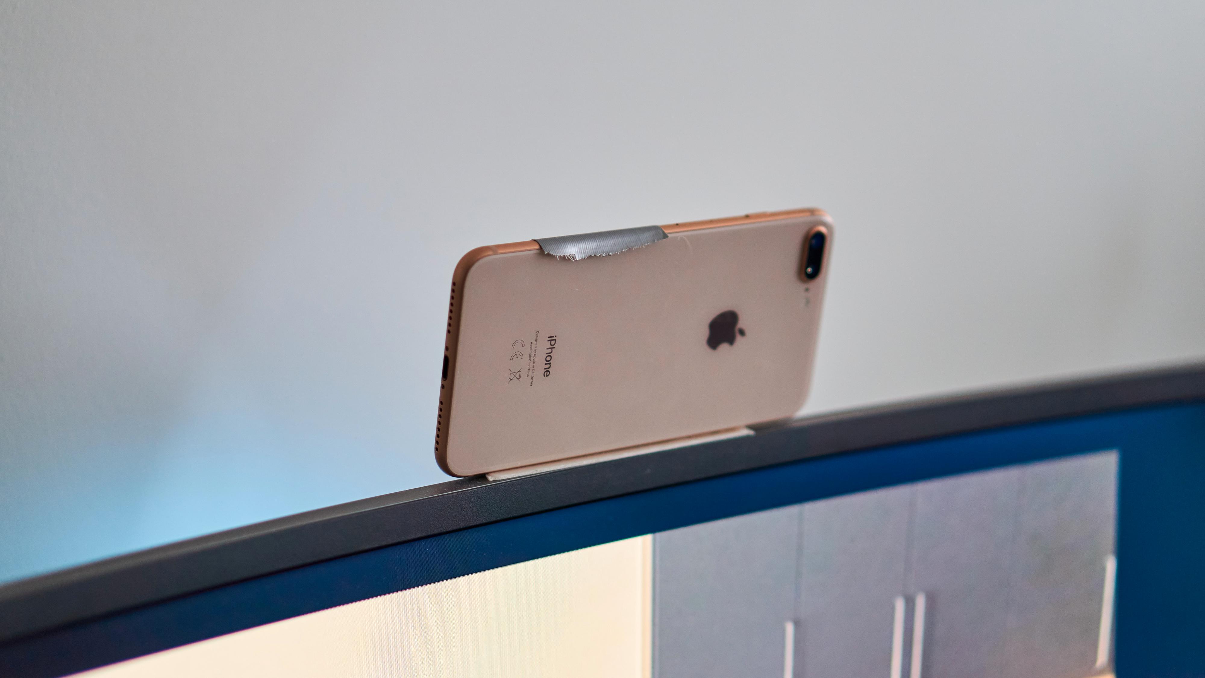 iPhone 8 Plus som webkamera.