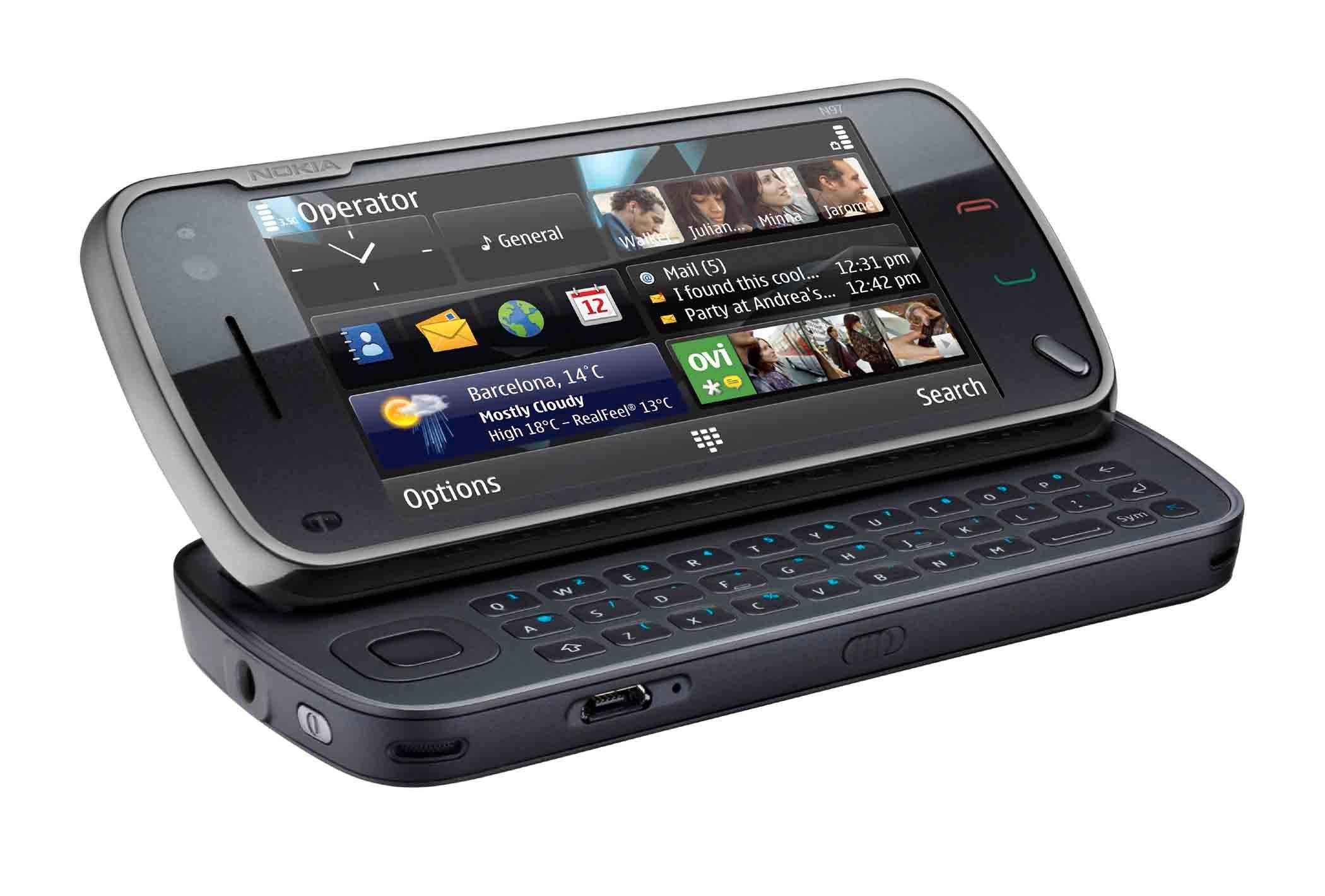 Nokia N97 ble en av Nokias siste toppmodeller med Symbian. Men den kunne ikke hamle opp med iPhone på brukervennlighet.