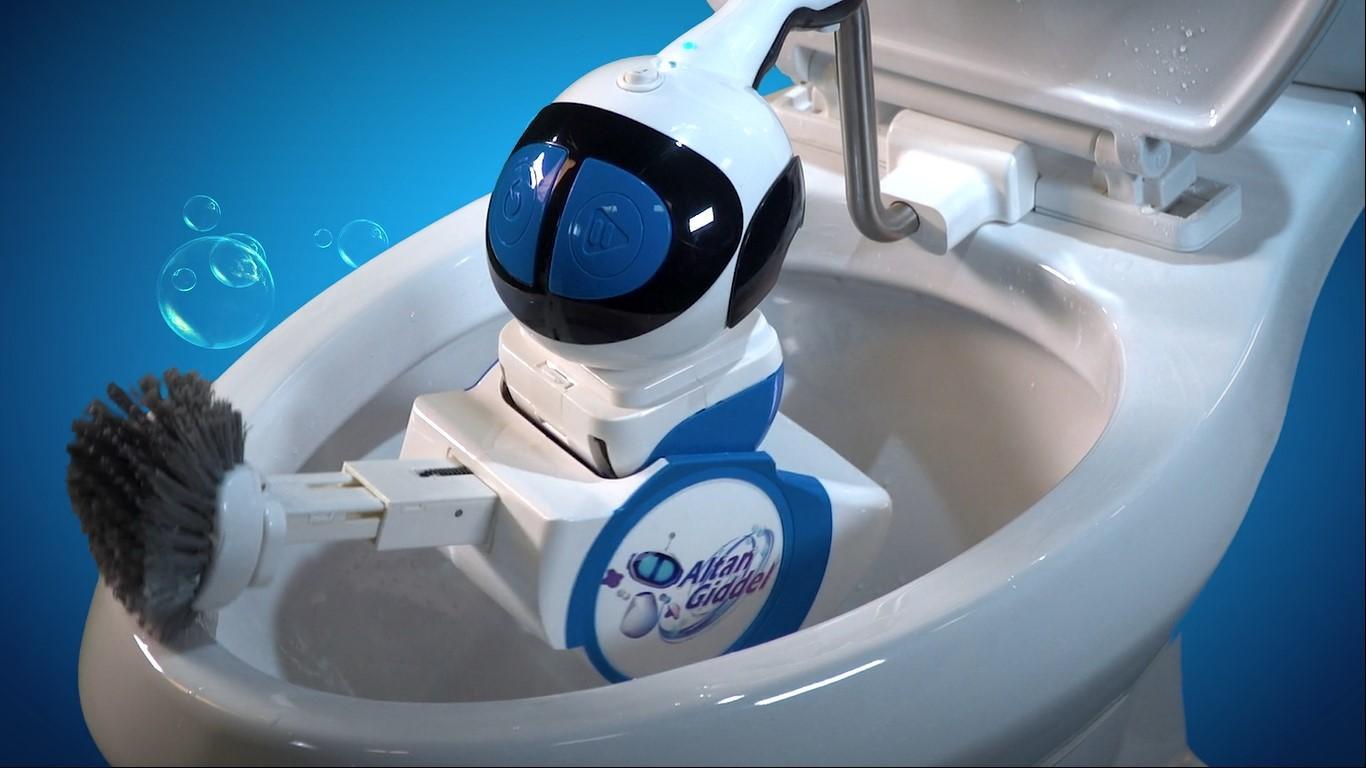 Dette skal være verdens første toalettskrubberobot