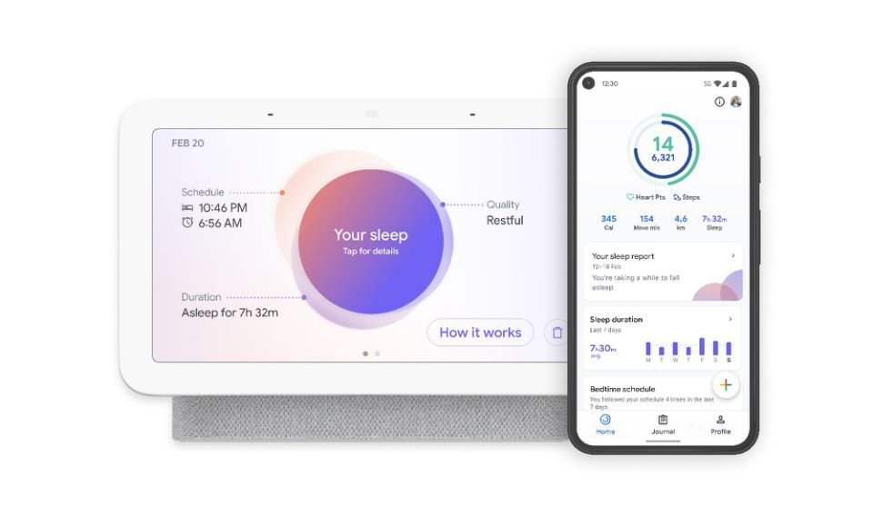 Du får søvndataene dine rett på skjermen, men de kan også hentes frem i Google Fit-appen.