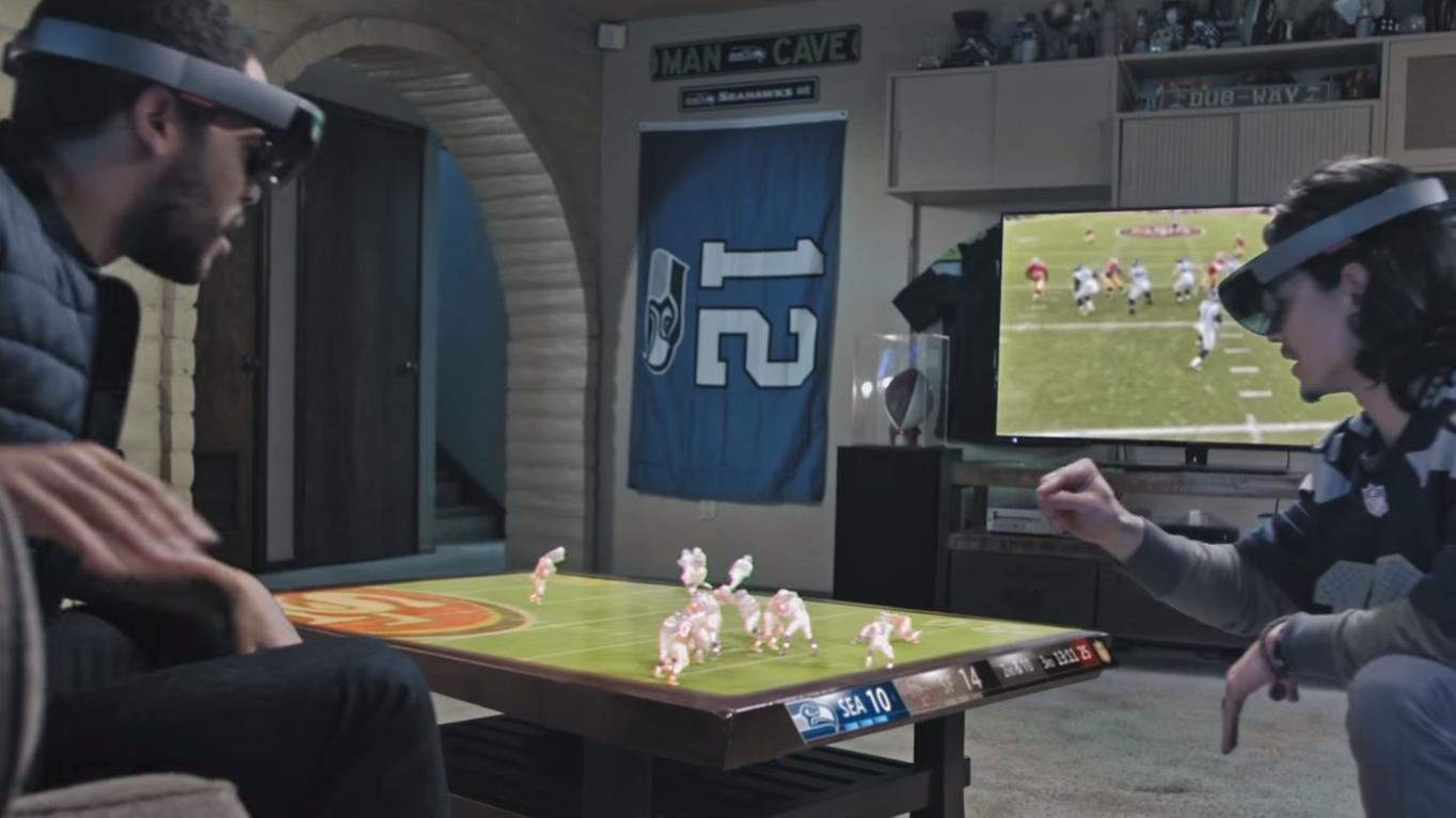 Slik skal Microsofts HoloLens-briller brukes til å se på sport