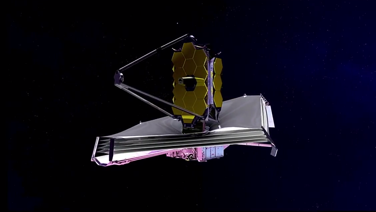 Det kommende teleskopet James Webb Space Telescope.Foto: NASA