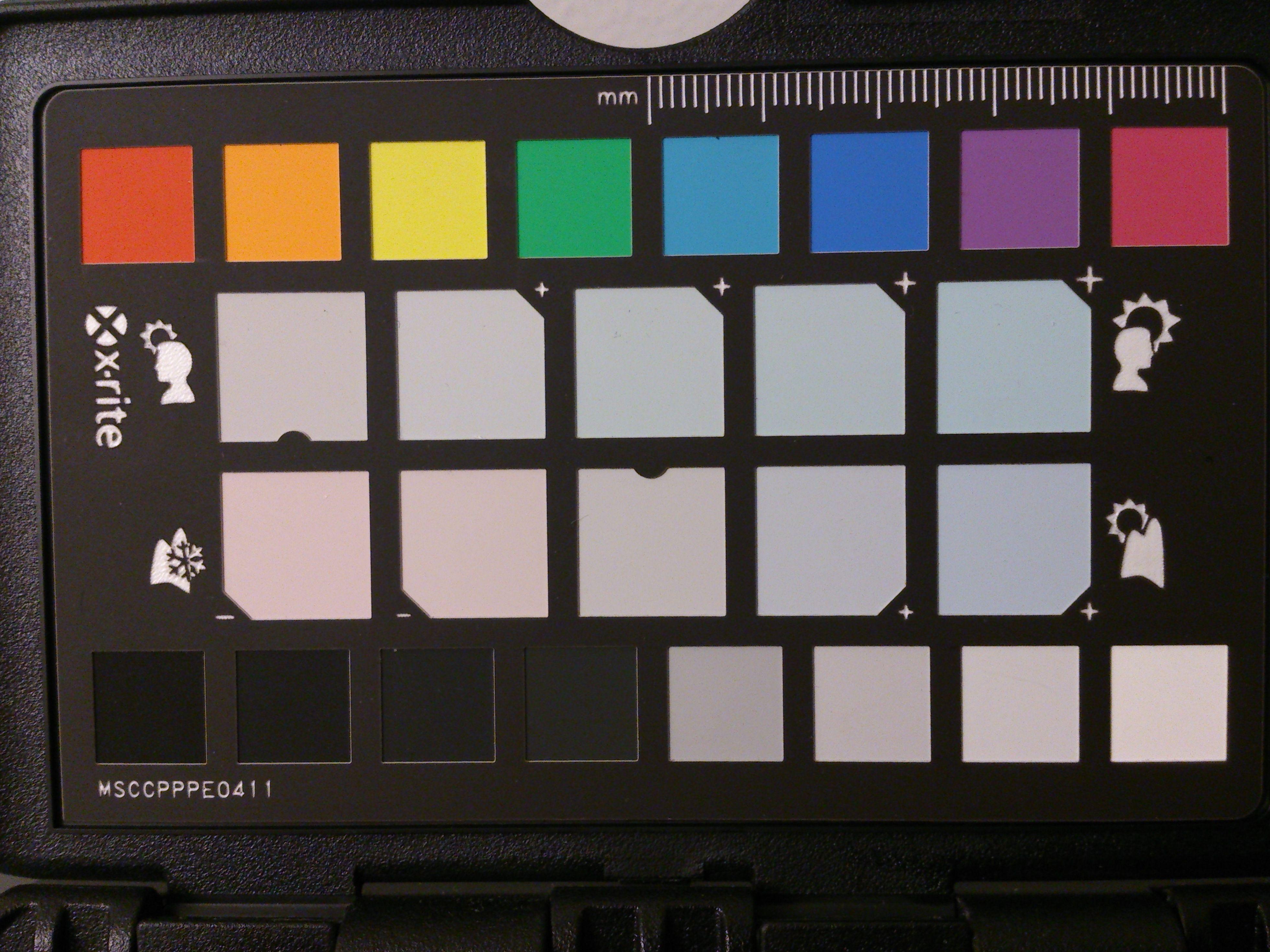 Fargeprøve, pasteller