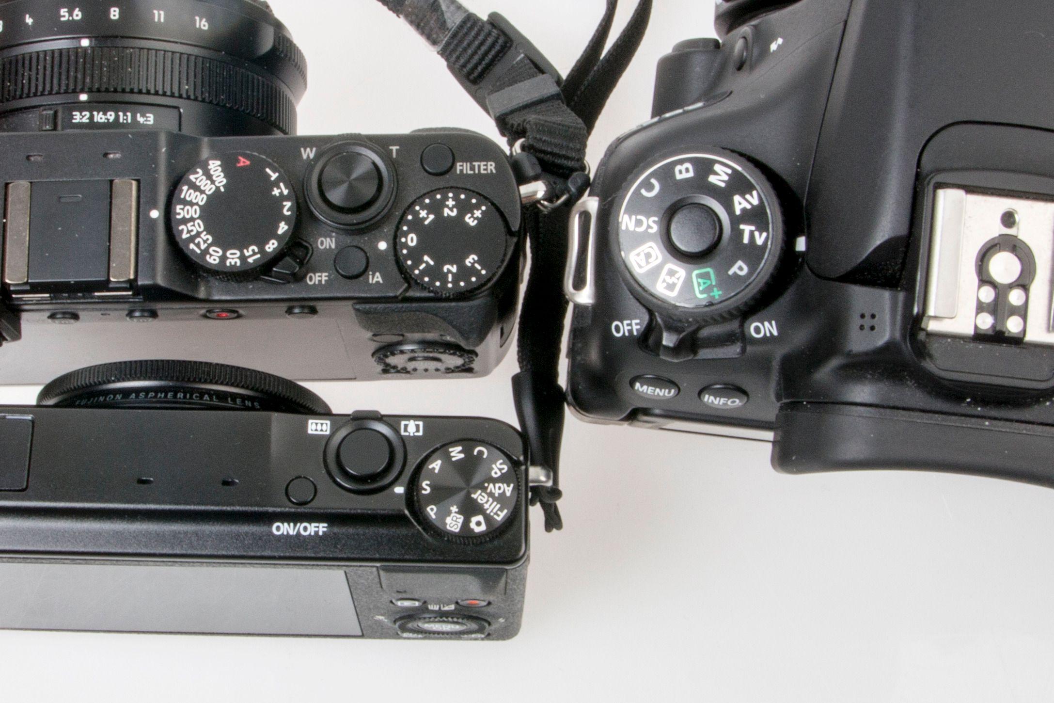 Hvordan du velger dette kan variere litt fra kamera til kamera, men ofte er det en knapp eller et menyvalg som heter «S» for «shutter», «SP» for «shutter priority», eller «Tv» for «Time value». På noen nyere «retromodeller» har lukkertiden et eget kontrollhjul som du kan sette i «A» for «auto». Foto: Kristoffer Møllevik