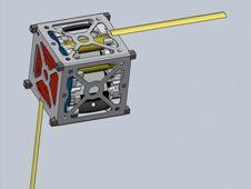 Designskisse av PhoneSat.Foto: NASA