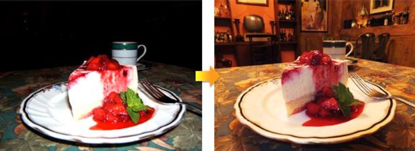 Fujifilm er kjent for gode bilder i dårlig lys. Her ser vi smartblits-funksjonen kameraet er utstyrt med.Foto: Fujifilm