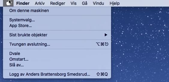 I Apple OS X kalles hvilemodus for «dvale», mens dvalemodus kalles «ventemodus» eller «sikker dvale».