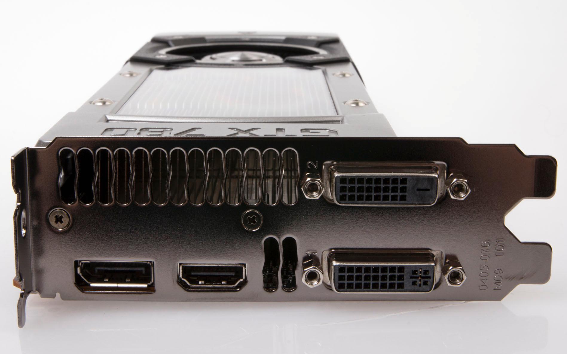 Som mange av dets slektninger har GeForce GTX 780 to DVI-utganger, HDMI og DisplayPort.Foto: Varg Aamo, Hardware.no