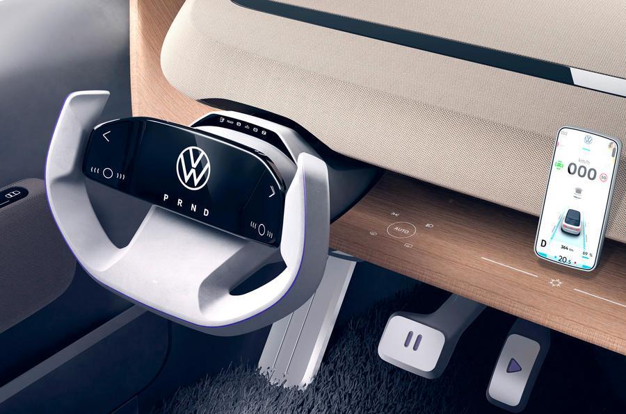 Litt informasjon rett fra bilen - resten fra mobiltelefon, som på en e-UP.