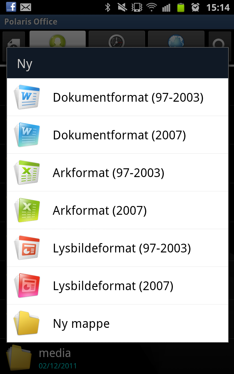 Officepakken i Samsung Galaxy Note er omfattende.