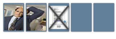 Dokumentet slettes, men SSD-en inneholder fortsatt 12 KB data.