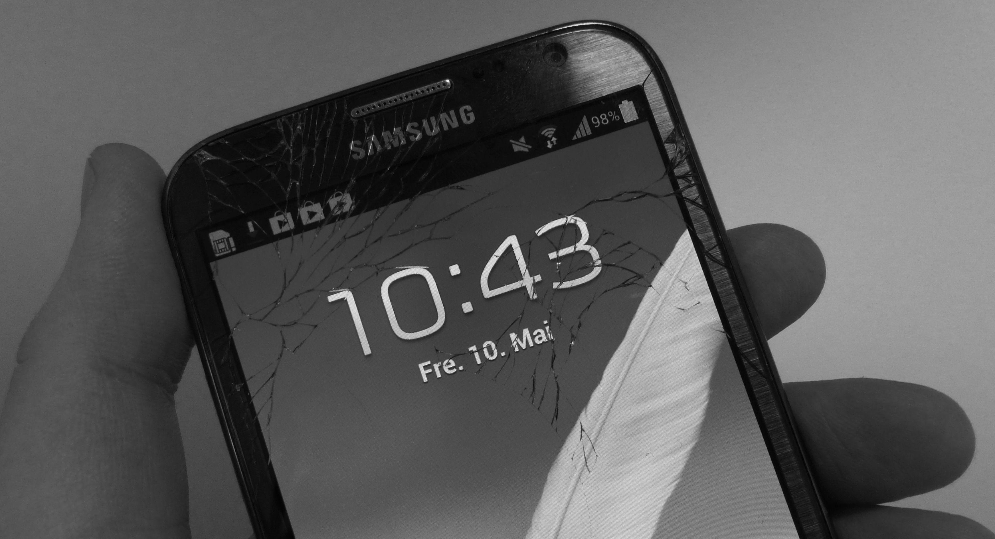 Hva gjør du når mobilskjermen har knust?