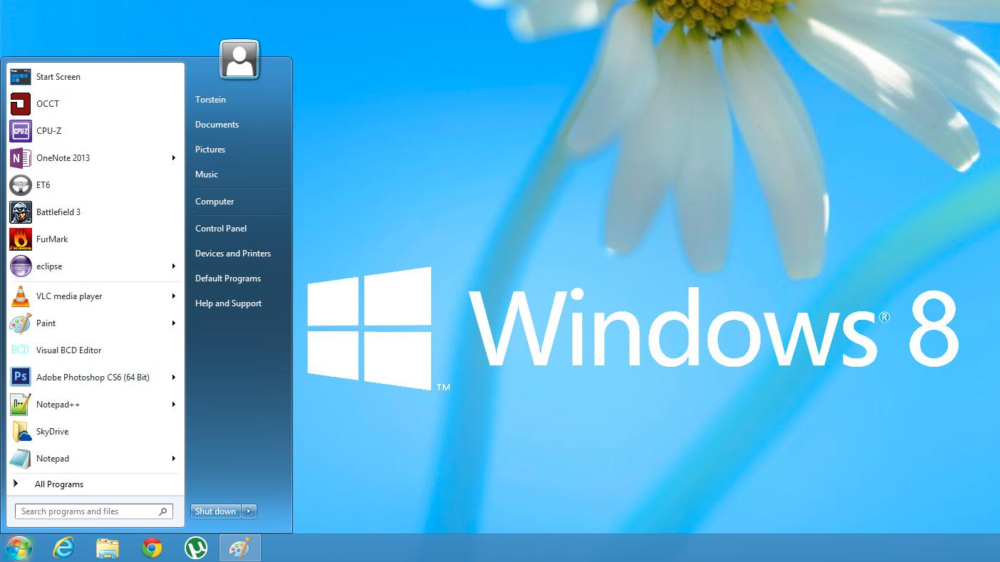 Fem startmenyer til Windows 8