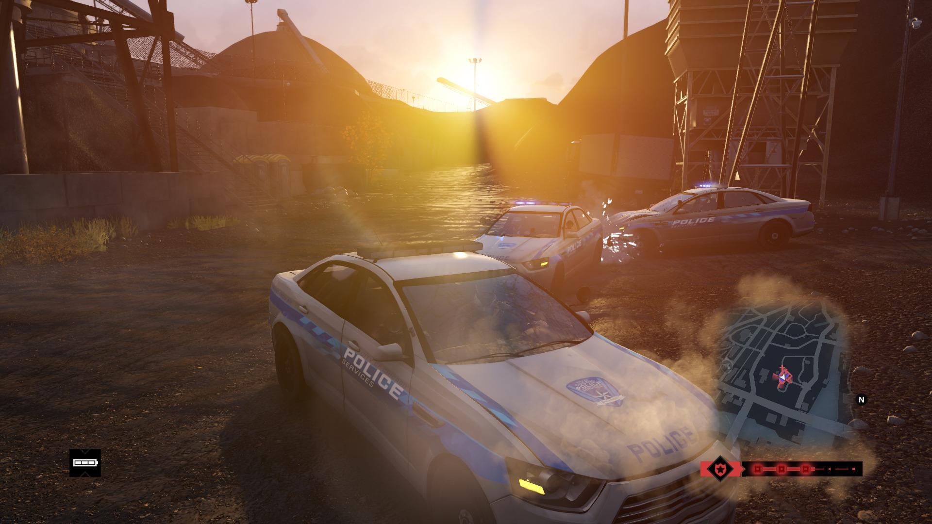 Det kan være visuelt vakkert å rappe en politibil i solnedgangen, men spesielt lurt er det ikke.