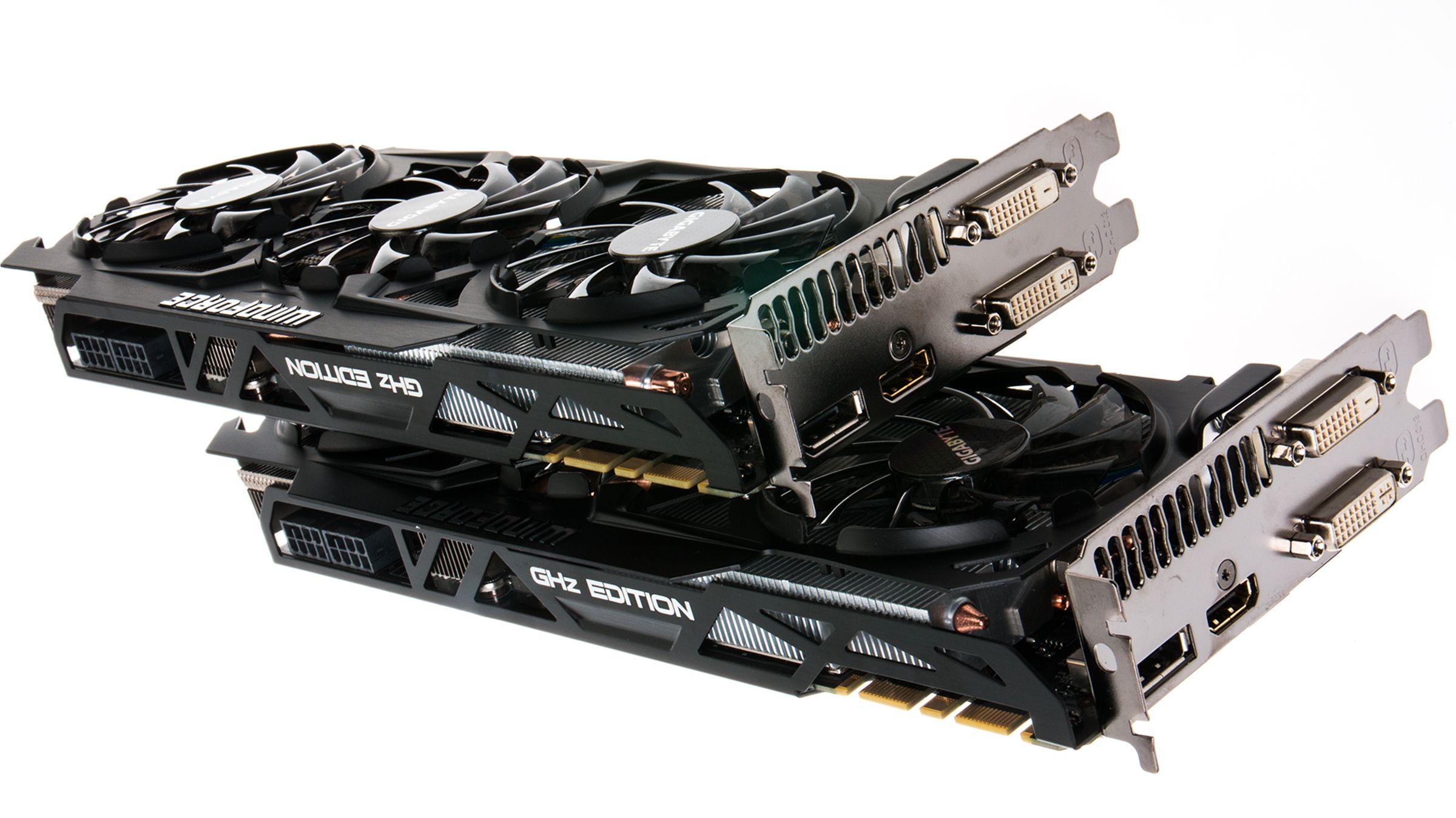 Gigabyte GeForce GTX 780 Ti GHz Edition er nesten helt identisk med lillebroren – men det er utenpå.Foto: Varg Aamo, Hardware.no
