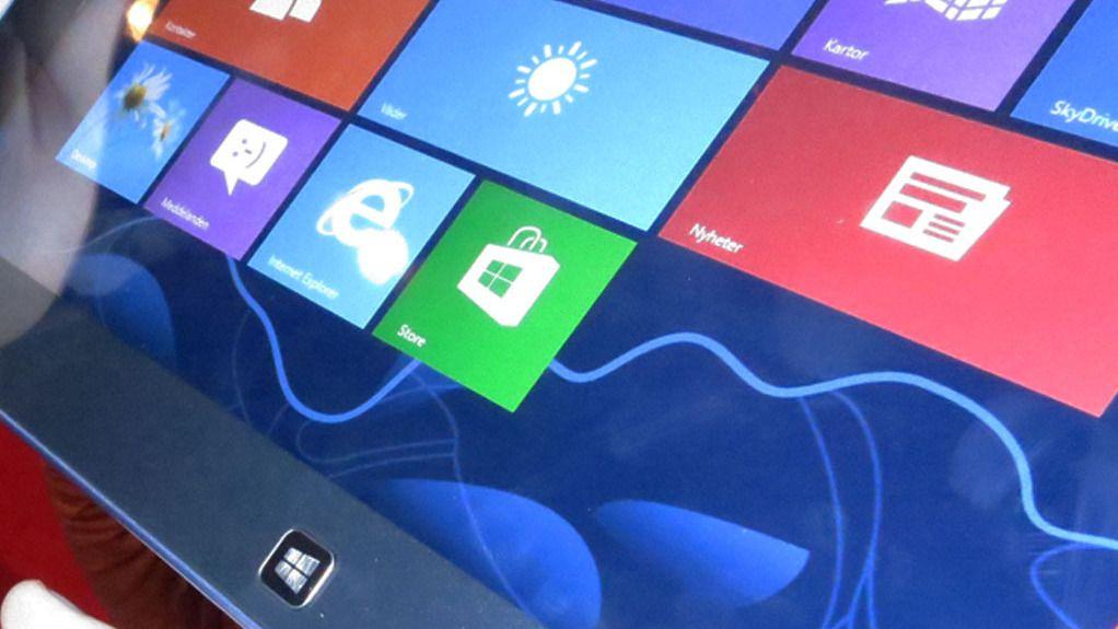 Slik er nettbrettversjonen av Windows 8