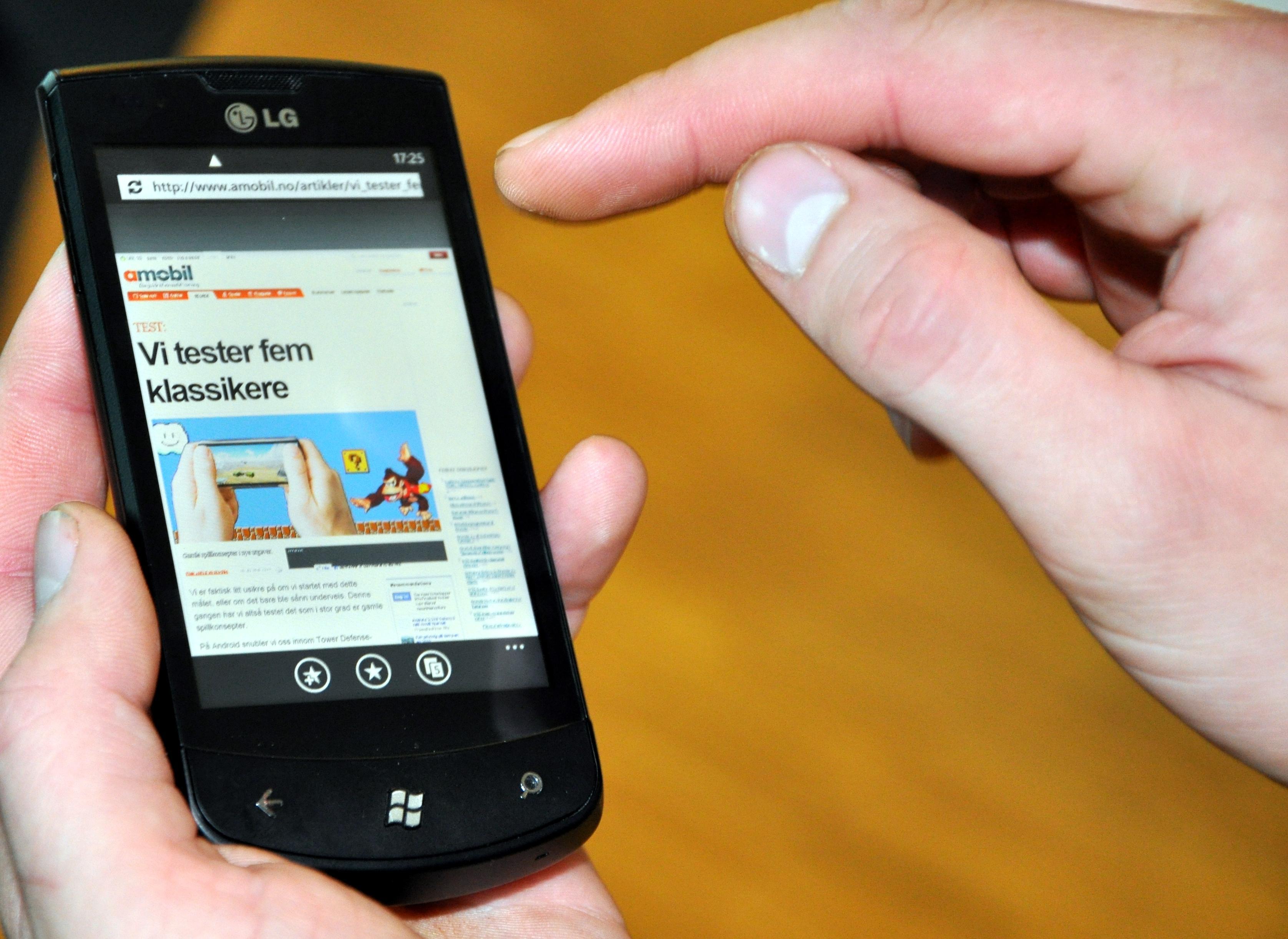 Nettleseren er Internet Explorer i en forbedret versjon.
