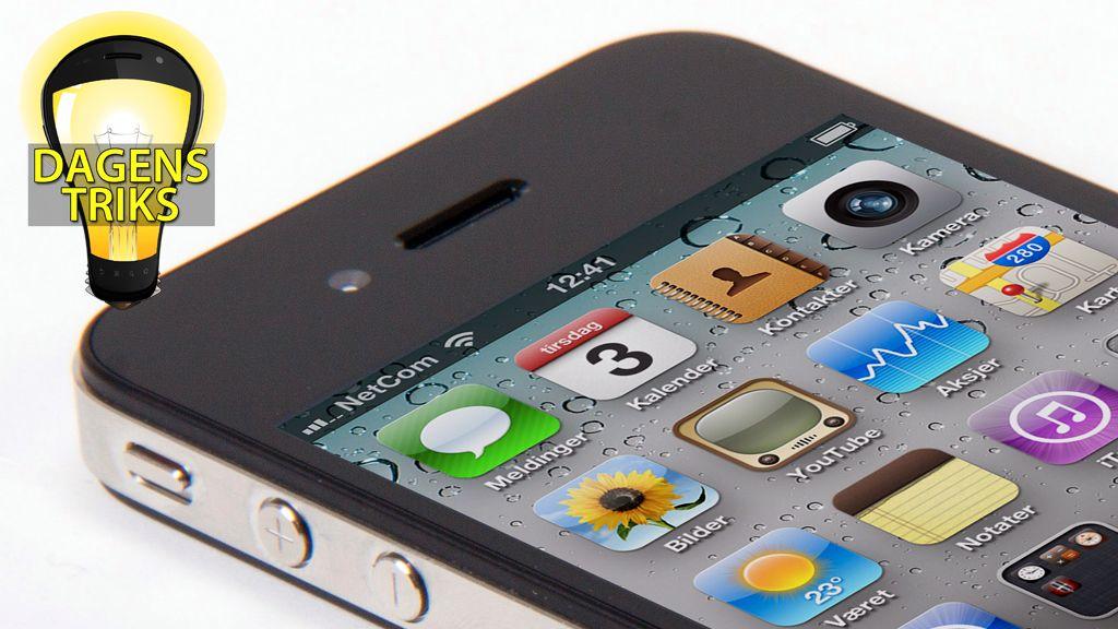 Lag skjermdump på iPhone