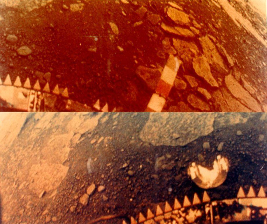 Fargebilder fra overflaten til planeten Venus, tatt av sovjetiske Venera 13 i 1982. På tide vi får noen bedre bilder? Foto: NASA