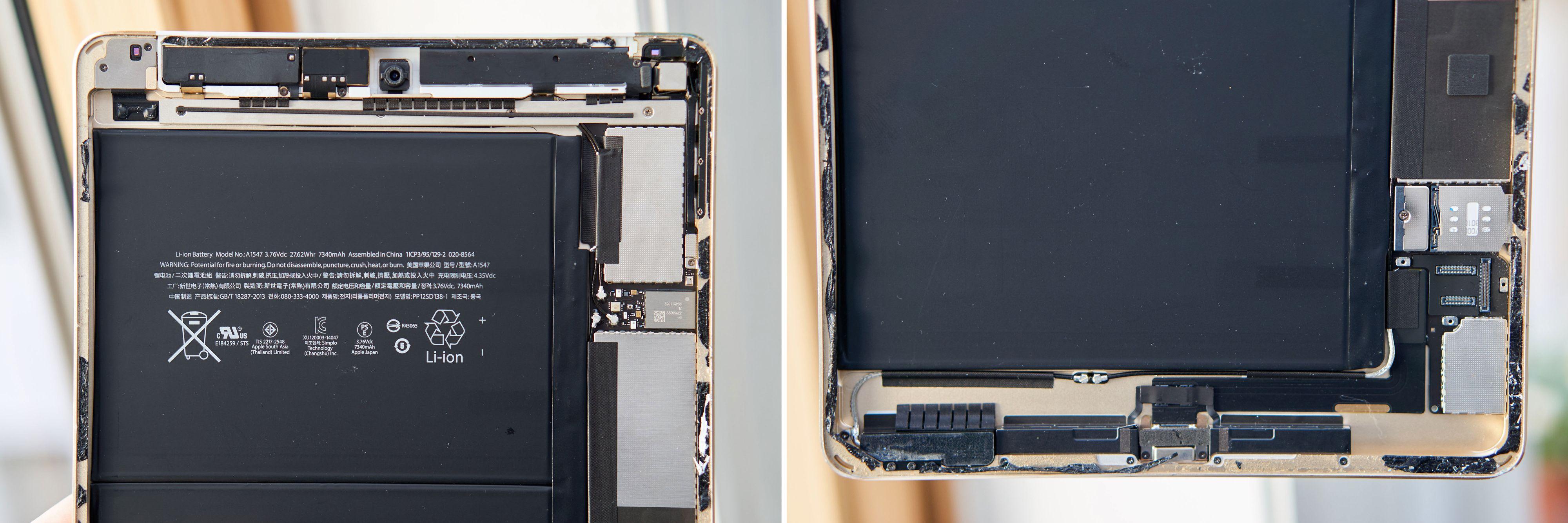 Slik ser en iPad Air 2 ut inni.