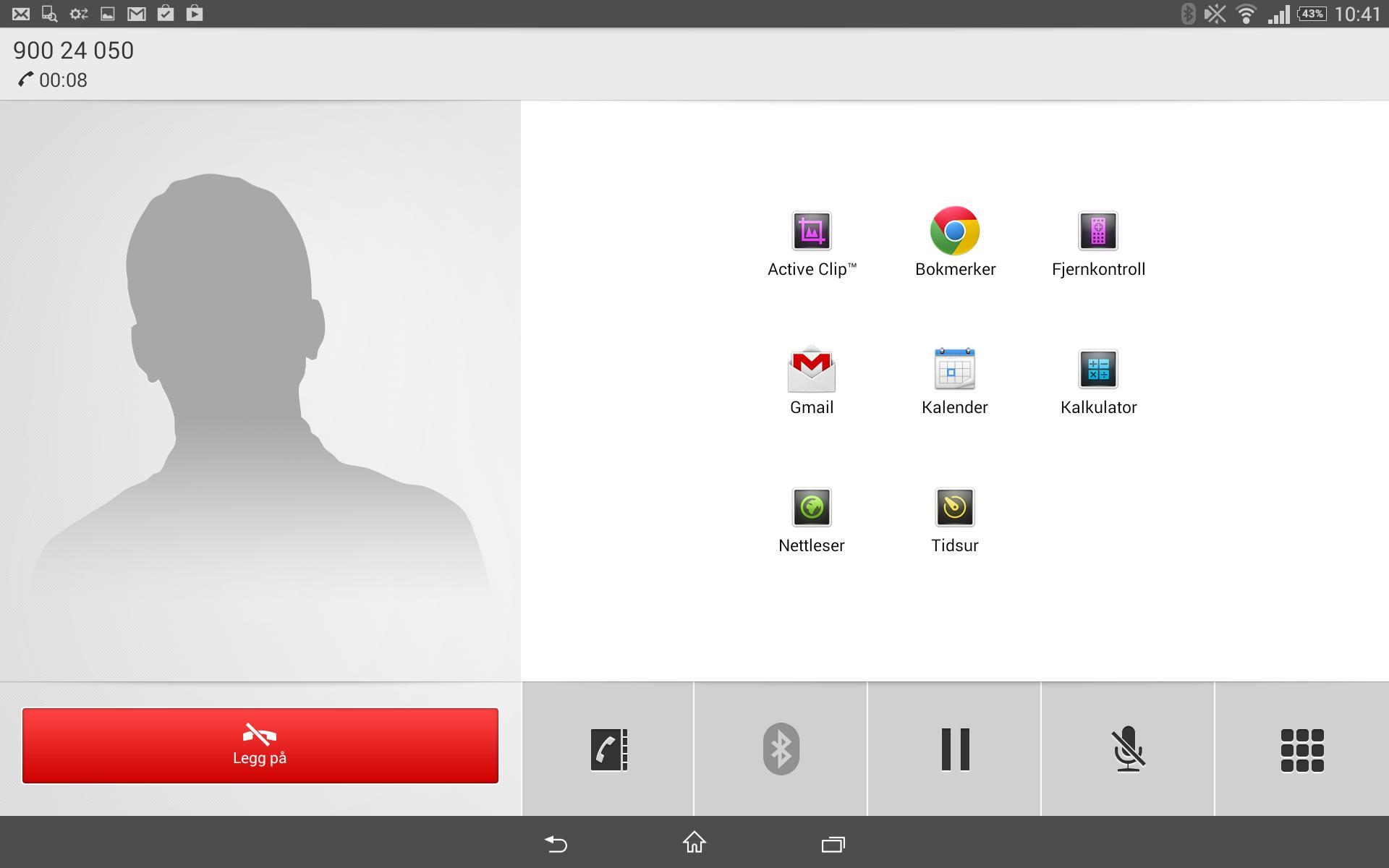 Jo da, du kan faktisk ringe med Xperia Tablet Z2 som med en annen mobiltelefon. Samtalen går høyttalende, så du bør kanskje tenke deg om før du ringer noen.Foto: Espen Irwing Swang, Amobil.no