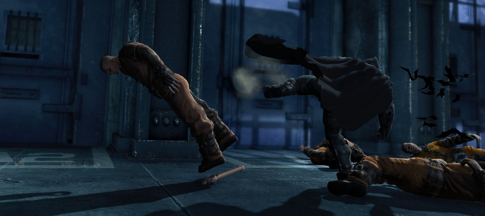 Batman denger skurker over en lav sko, og avslutter gjerne med et kraftfullt sidespark.