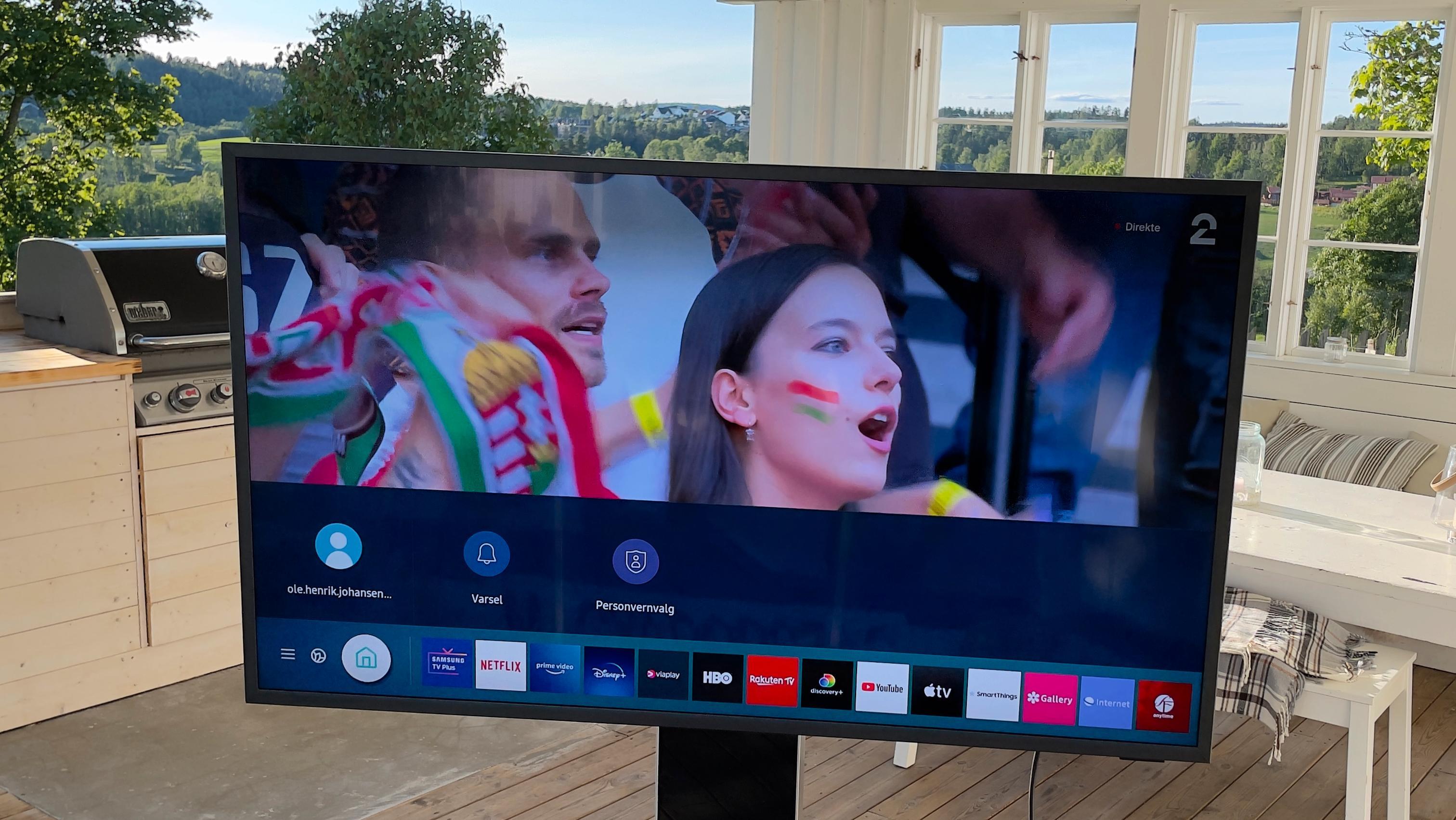 Brukerplattformen er lik å bruke som alle andre TV-er fra Samsung.