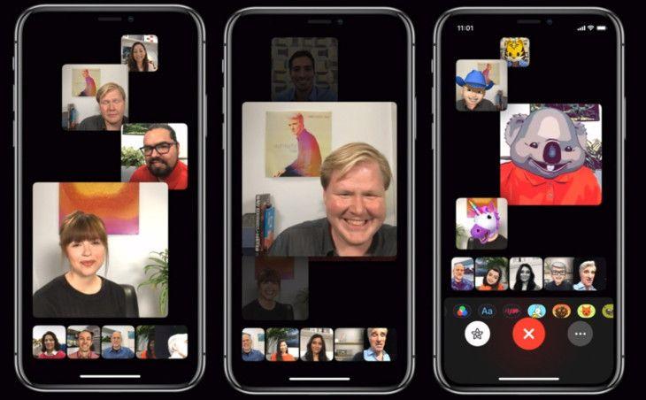 Gruppesamtaler i FaceTime lot opptil 32 personer snakke sammen samtidig. Videovinduene justerte størrelse automatisk basert på hvem som snakket.