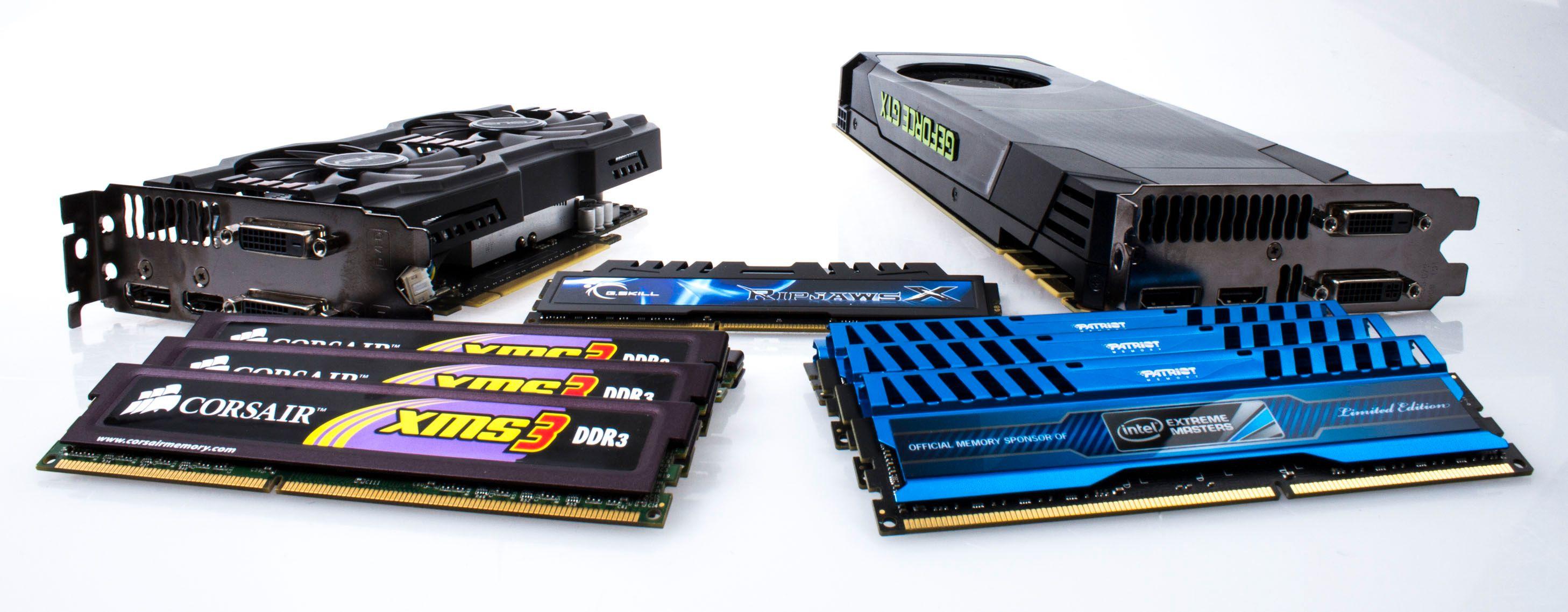 Vi tipper minnebyttet vil fungere langt bedre med et par grovkalibrede skjermkort i spillmaskinen.Foto: Varg Aamo, Hardware.no