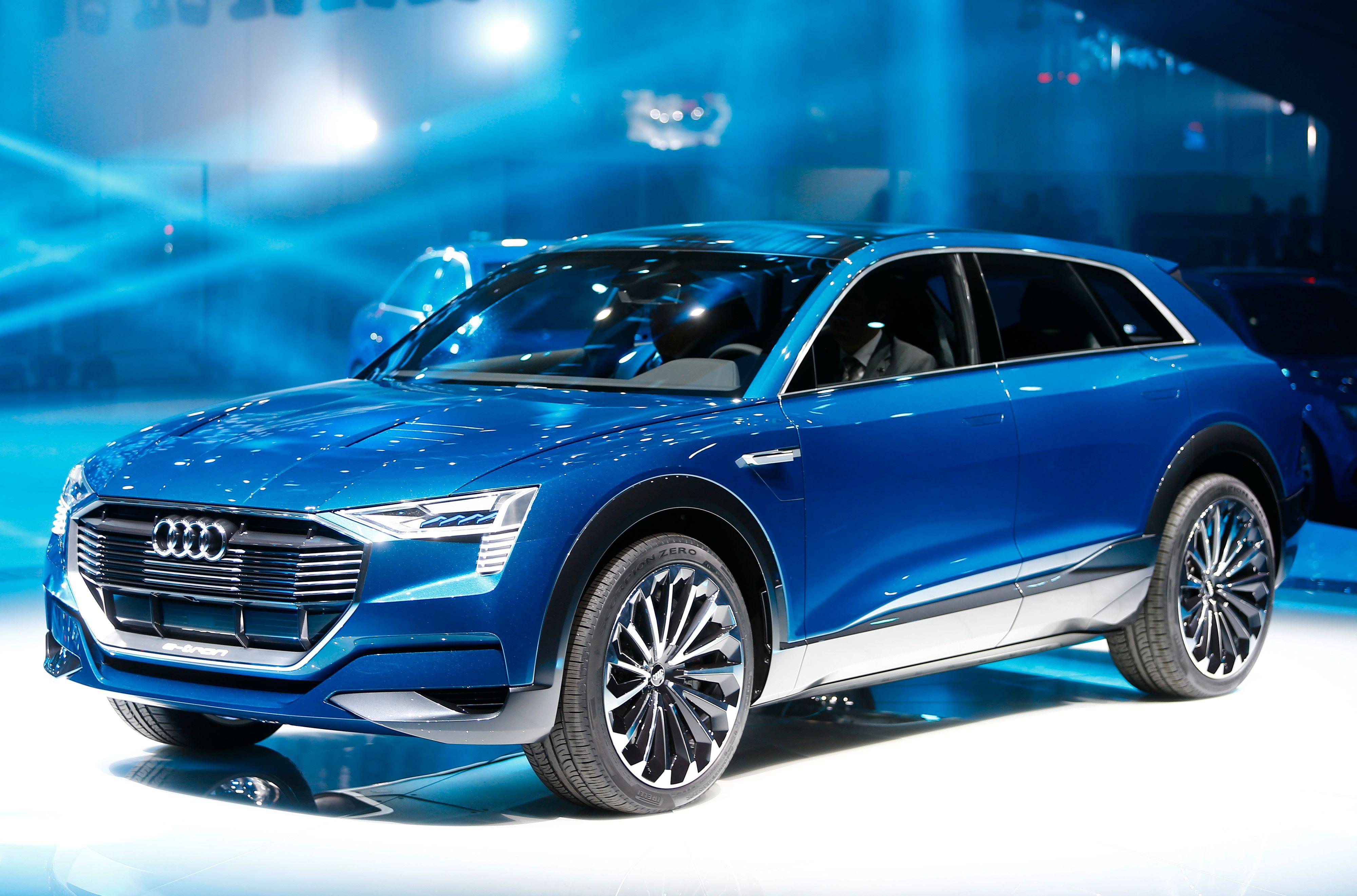 Audi e-tron Quattro-konseptet ble først presentert i Frankfurt i 2015.