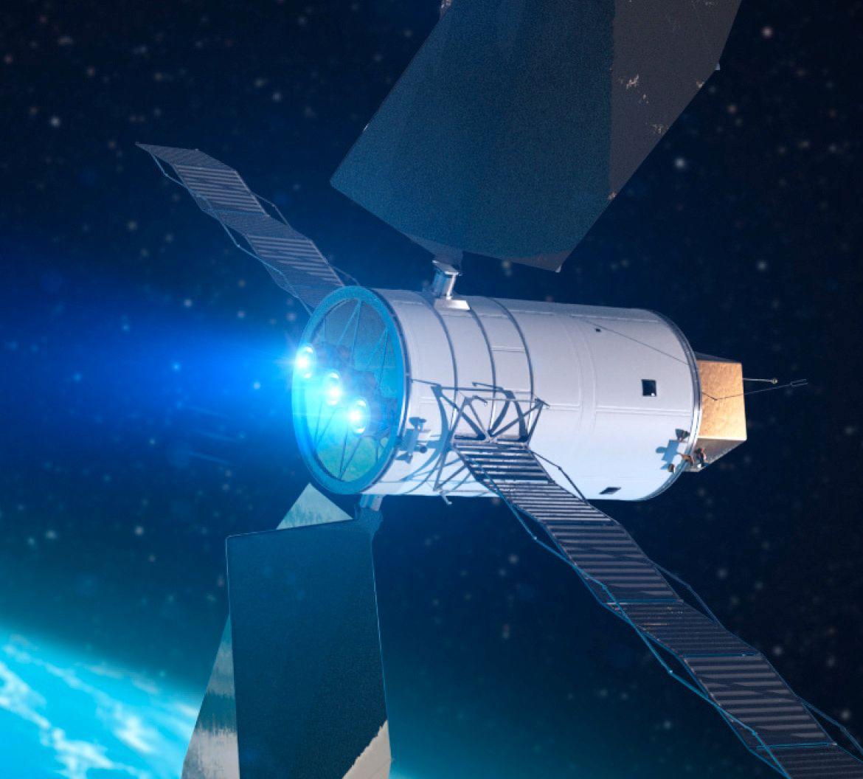 Konseptbilde av Solar Electric Propulsion-systemet. Foto: NASA