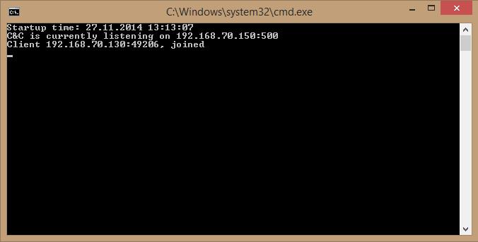 Og her er det som skjer i bakgrunnen. Maskinen har koblet seg opp til en server med ukjent geografisk plassering. Nå begynner moroa, eller elendigheta. Alt ettersom.Foto: Laget for Tek.no av NSM