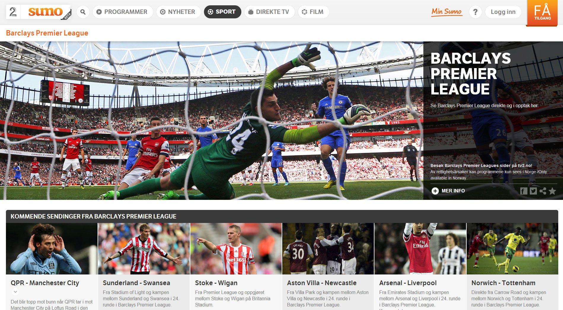 TV2 Sumo kan by på mye sport.
