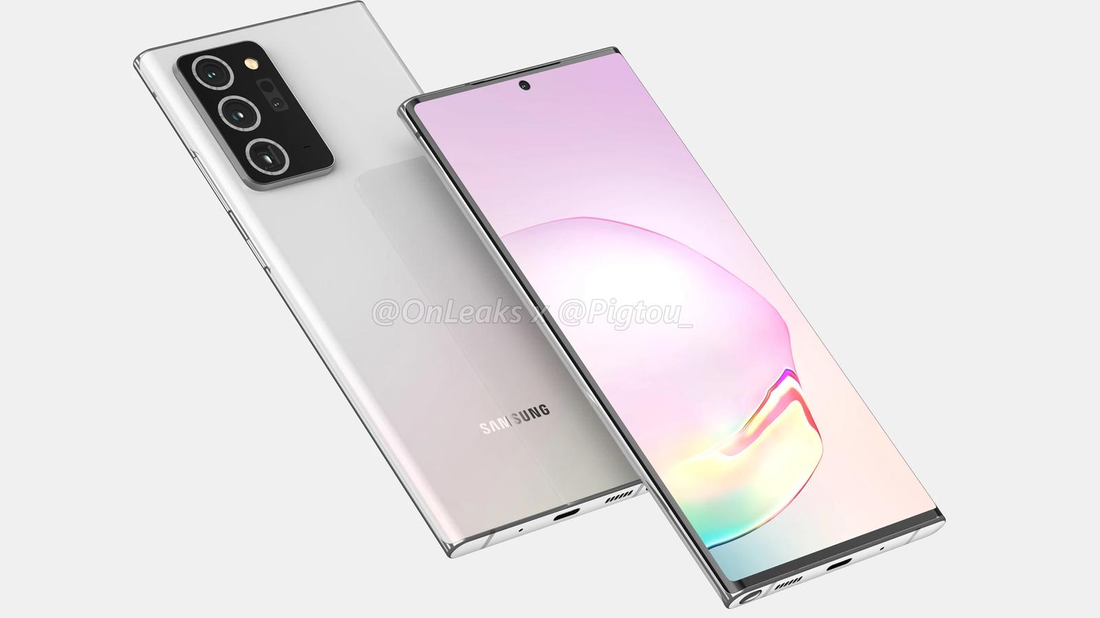 Slik er det ventet at Samsungs neste flaggskip med penn, Galaxy Note 20, skal se ut.