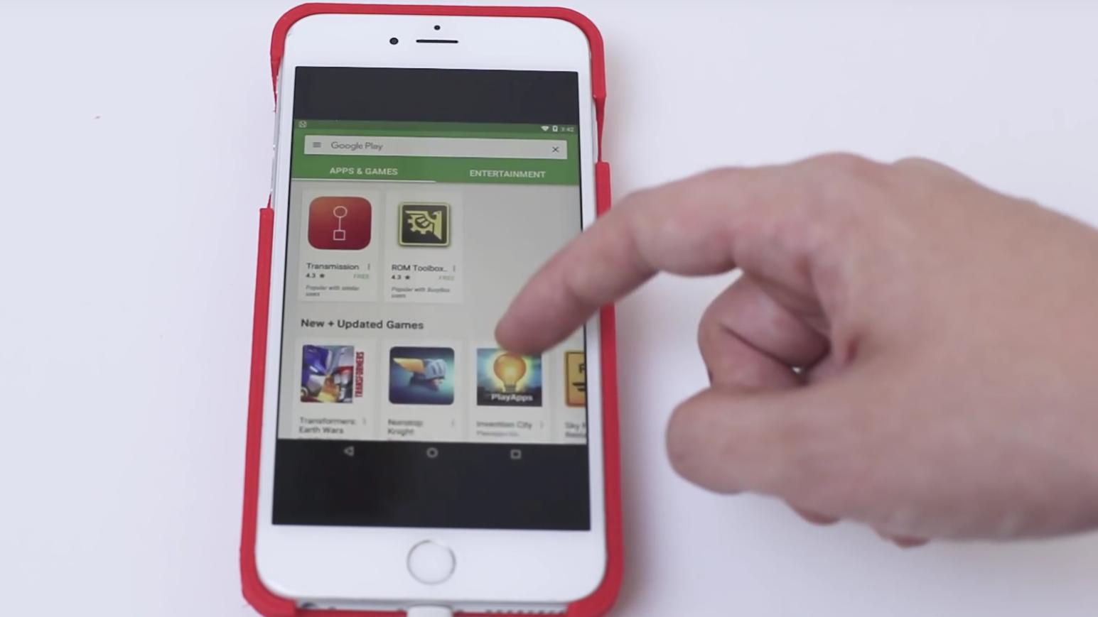Han lagde sitt eget deksel for å kunne kjøre Android på en iPhone