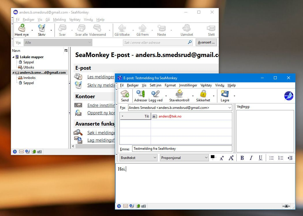 E-postklienten er enkel men tilbyr de fleste basisfunksjoner. Vi skulle dog helst sett at den kunne kjøre i samme vindu som nettleseren, slik som blant annet var tilfelle med Operas e-postklient i Opera 12.