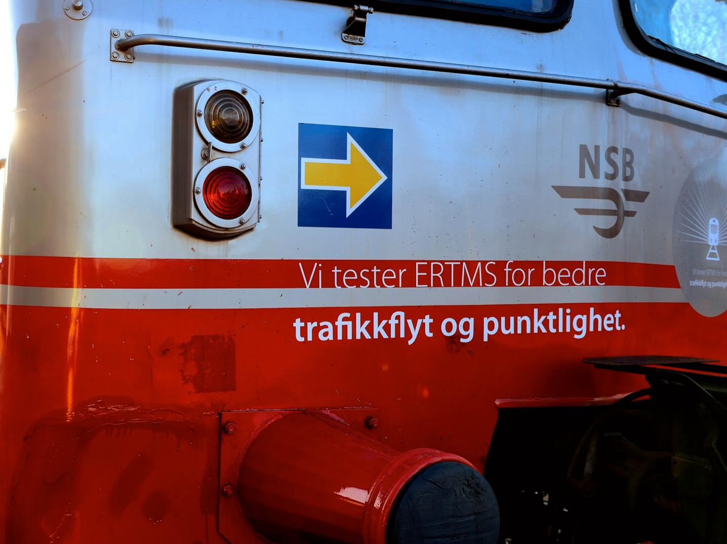 Jernbaneverket har et eget tog for testing av ERTMS.Foto: Jernbaneverket