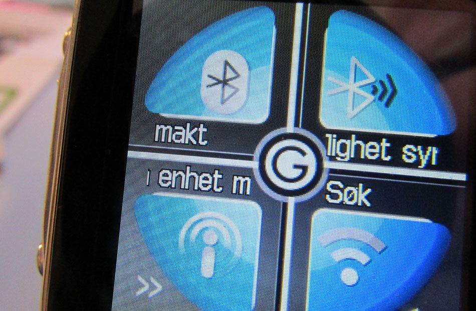 Her er Bluetooth-menyen. Makt er norsk for Power.Foto: Espen Irwing Swang, Amobil.no