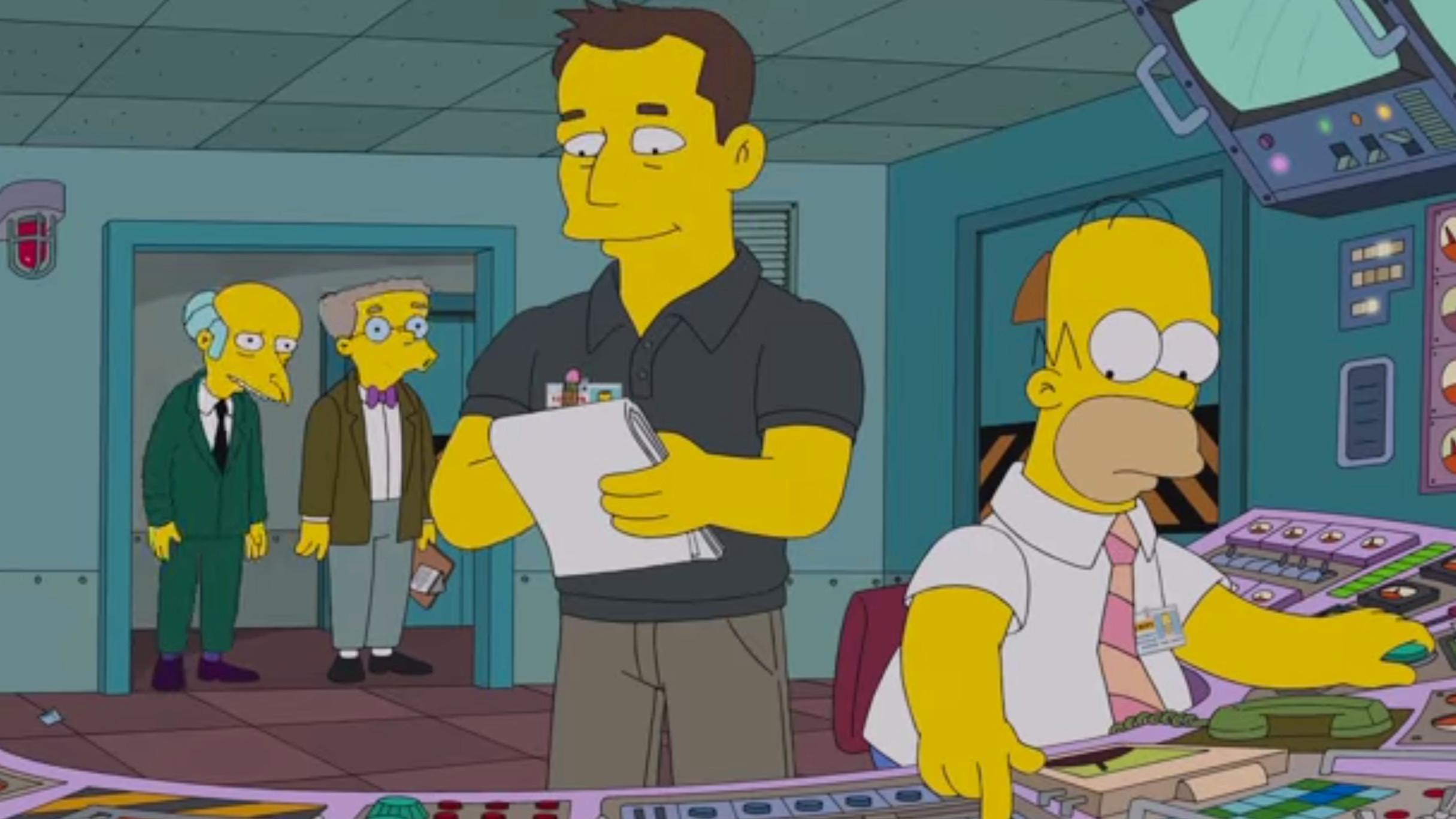 Elon Musk dukket opp i Simpsons: – Elraketter er umulig