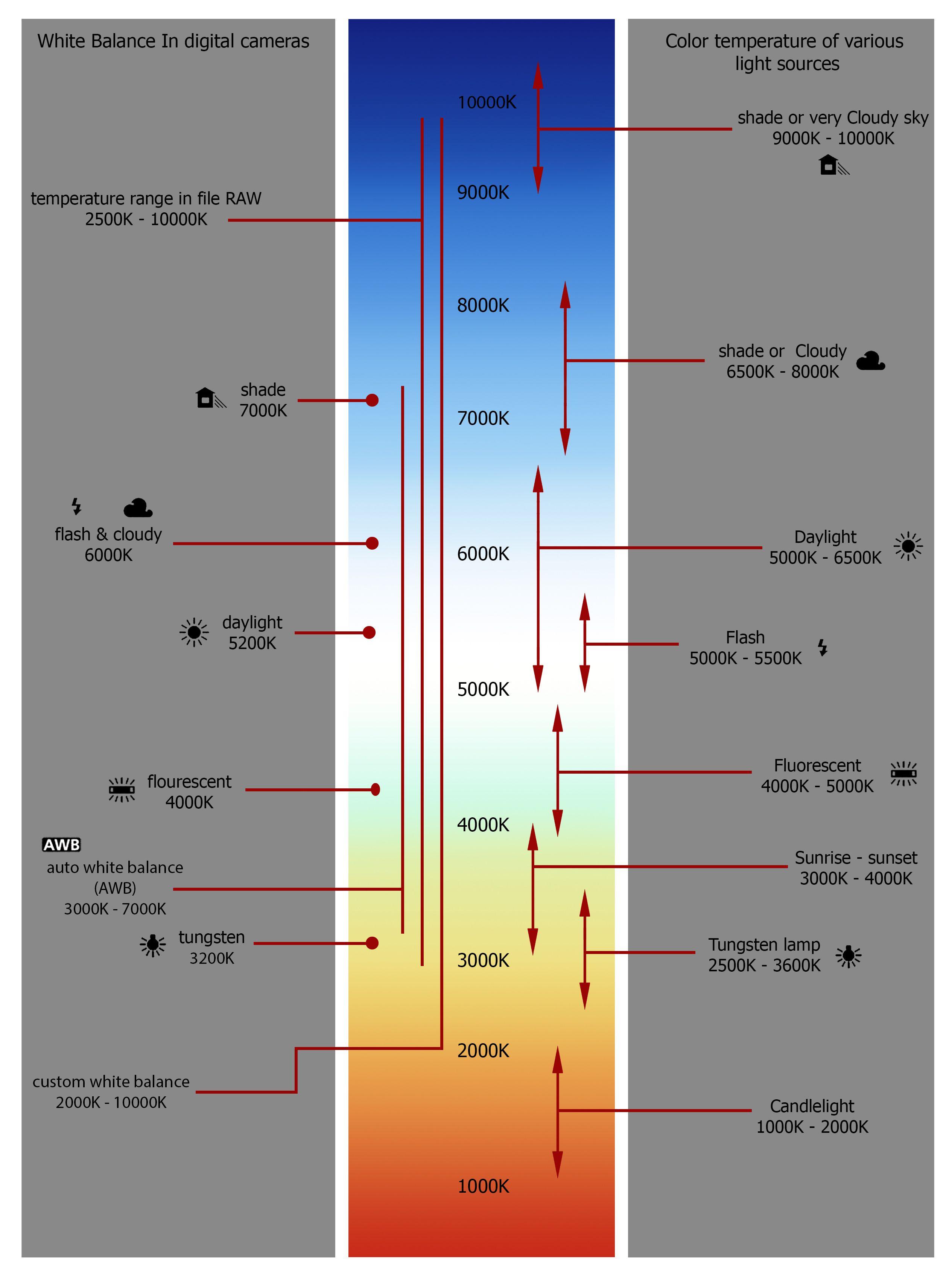 Hvitbalanse og fargetemperatur. (Grafikk: Sompoch Tangthai, Shutterstock)