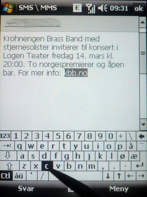 Du kan enkelt kopiere og lime inn tekst med tastaturet, akkurat som på PC-en.