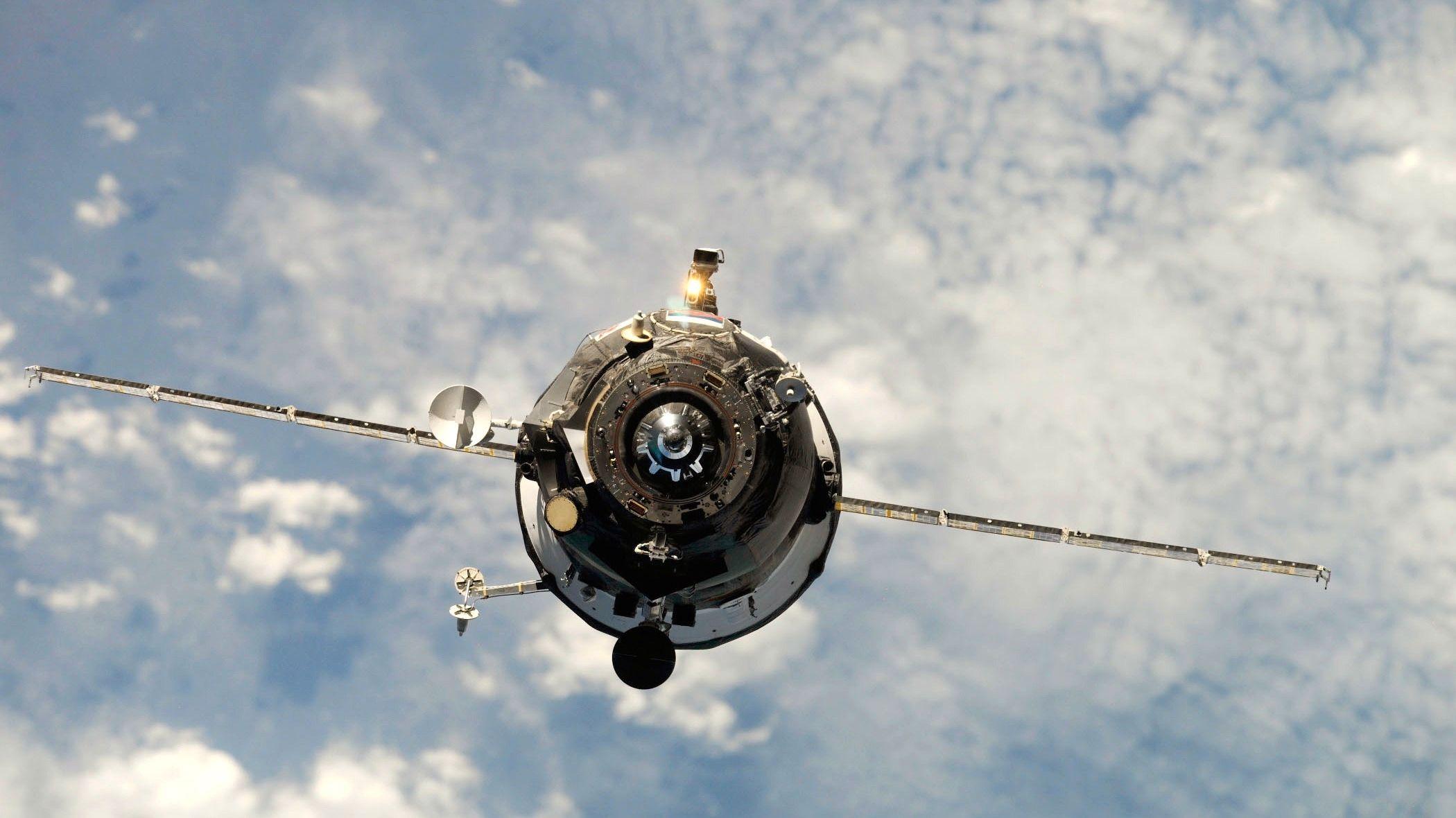 Problemromskipet Progress-59. Foto: NASA