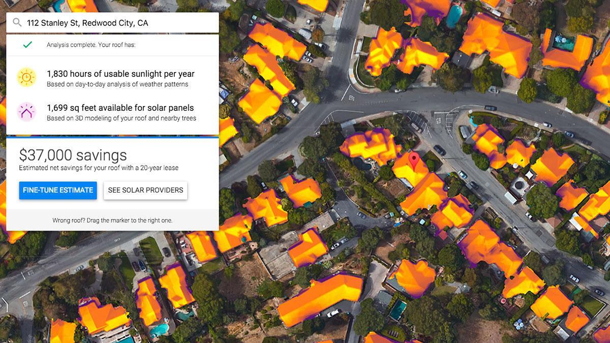 Google synes flere bør ha solcellepaneler på taket