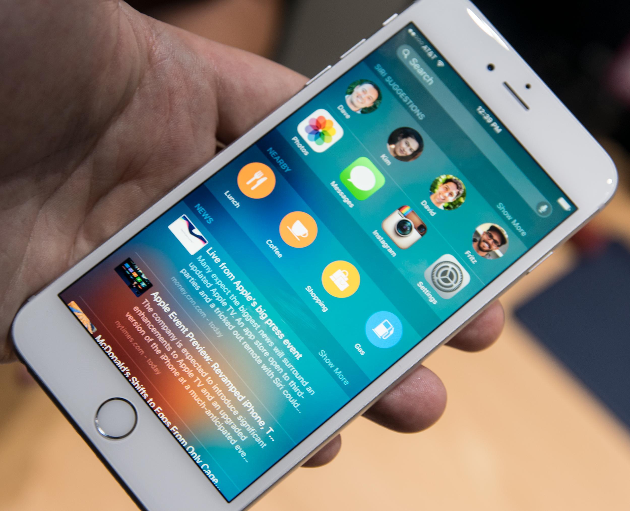 Mange nye funksjoner har kommet til i iOS 9. Foto: Finn Jarle Kvalheim, Tek.no