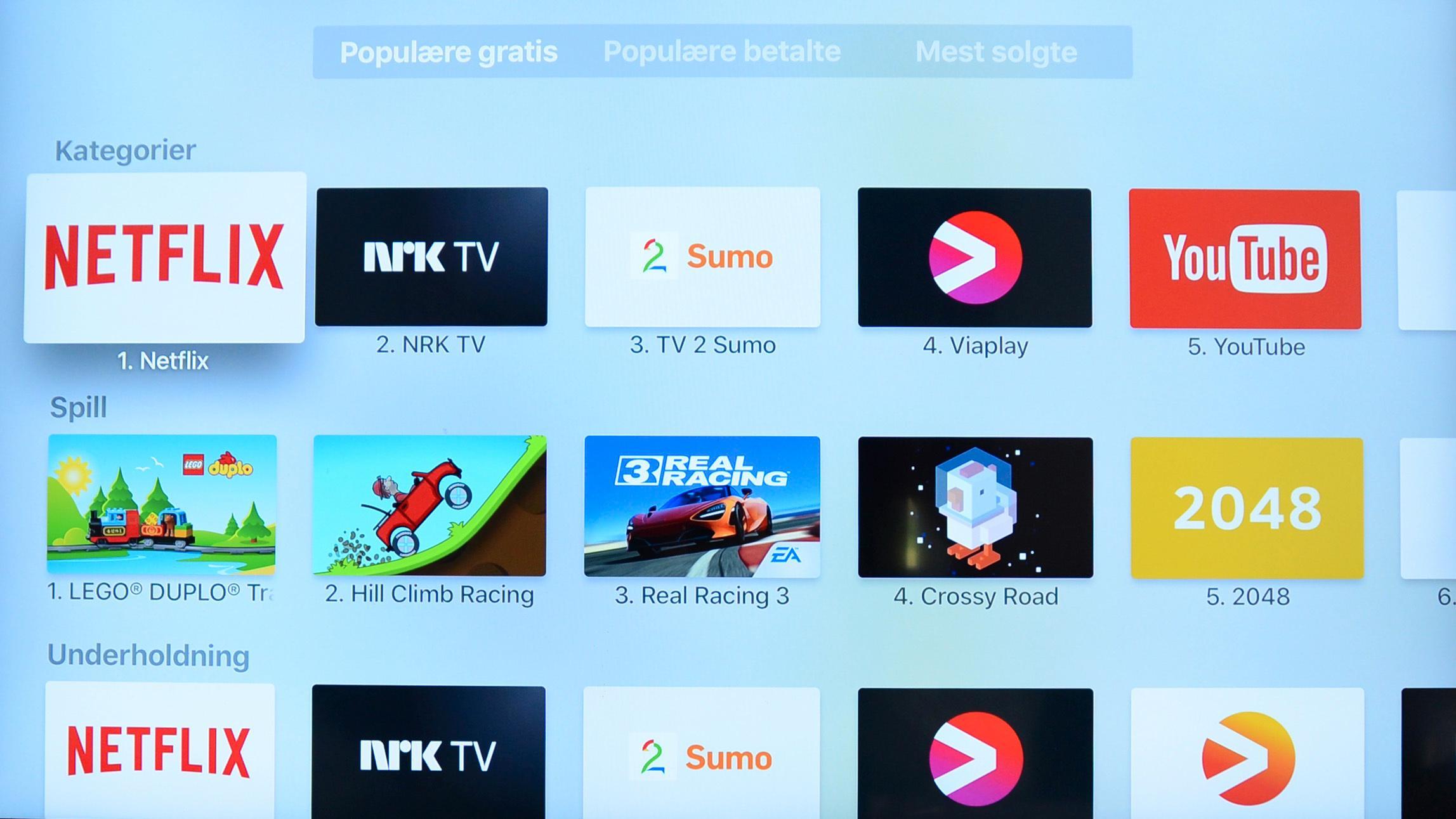 En av tingene vi virkelig liker med de to siste generasjonene av Apple TV er at du kan legge inn apper.