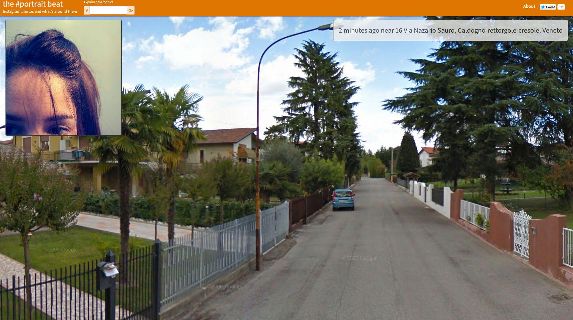 En jente i nord-Italia ville visst dele et bilde av pannen sin med verden.