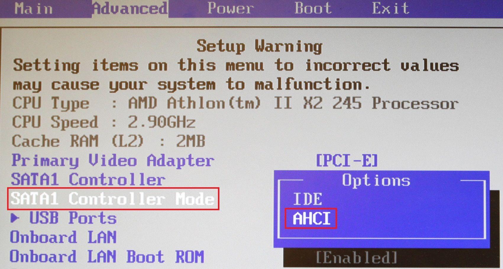 Har du en SSD, bør denne settes i AHCI-modus.