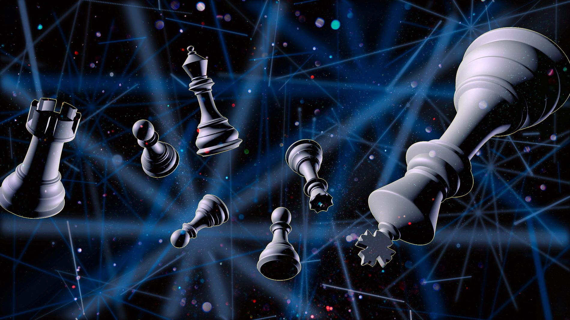 SJAKK MATT: Du vil få bakoversveis av de grafiske scenografi-effektene i Chess.
