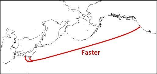Kabelen skal gå mellom USAs vestkyst og Japans østkyst.Foto: NEC